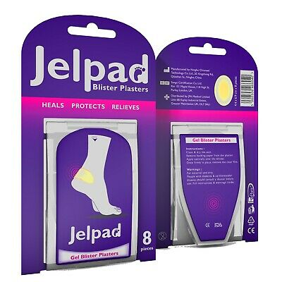Jelpad Hydrocolloid Blister Plasters - Pack of 8