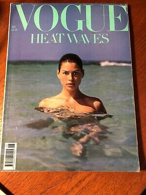VOGUE MAGAZINE # 1989 July UK issue Carre Otis cover by Herb