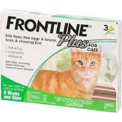 Frontline Plus Flea and Tick Control  Merial - Cats  3 Months Supply