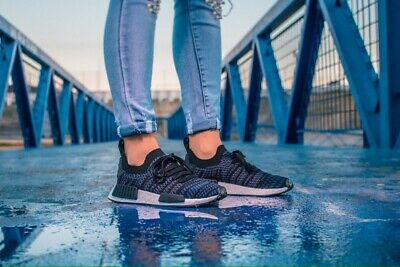 abefd1905 Adidas Nmd-R1 Stlt Pk Premeknit Ac8326 Black Pink Purple Wome s Running  Shoes