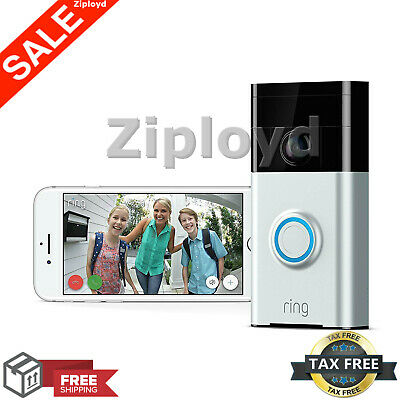 Ring Video Doorbell Wi-Fi Enabled Smart Phone HD Security Camera Night Vision IP