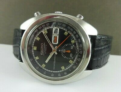 Vintage SEIKO Chronograph 6139-6012 Watch. Day/Date (Eng/Spa). Ca 1972