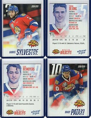 2018/19 Moncton Wildcats {QMJHL} Team Issued cards -- You pick from list!