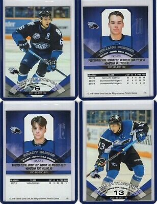 2018/19 Saint John Sea Dogs {QMJHL} Team Issued cards -- You pick from list!