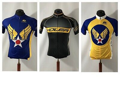 Voler Lot of 3 Club Fit VICTORY Race Cycling Jersey Short Sleeve Medium USA  Made a771309e3