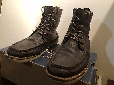 74833364255 Toms Men s Searcher Boots chocolate Brown Full Grain Leather Boots size 11