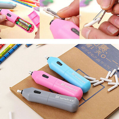 Creative Electric Eraser Mechanical Pencil Rubber Student Office School Supplies