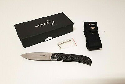 Navaja Böker Plus Exskelibur 1 Carbon CPM S35VN folding knife EXCELLENT!!!