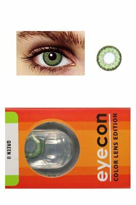 Eyecon Colored Contacts Lenses Free Case Two Tone Green Color More Colors Avail