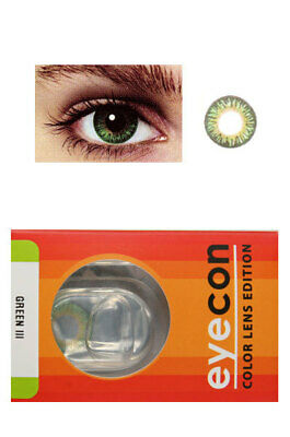 Eyecon Colored Contacts Lenses Free Case Three Tone Green Color More Color Avail