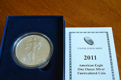 2011 Silver Dollar Coin ~ 1 troy oz AMERICAN EAGLE Walking Liberty Unc. BU w/Box