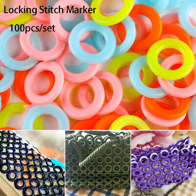 Latching Plastic knitting tool Locking Stitch Markers Crochet Ring mark circle