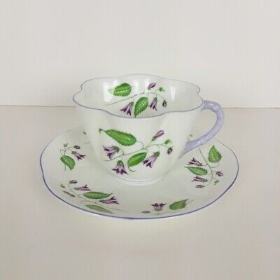 Shelley Campanula Cup and Saucer Fine Bone China England 8766