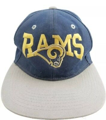 Rare Vintage Los Angeles Rams Nfl Football Hat Snapback Old School Logo  Super 749a5aa6a