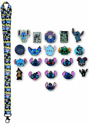 Stitch Lanyard and 5 Lilo & Stitch Themed Disney Trading Pins Starter Set ~ NEW