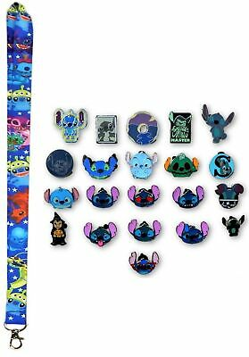 Stitch Lanyard Starter Set with 5 Lilo & Stitch Themed Disney Trading Pins ~ NEW