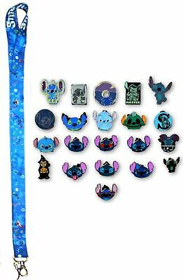 5 Lilo & Stitch Themed Disney Trading Pins Starter Set with Stitch Lanyard ~ NEW