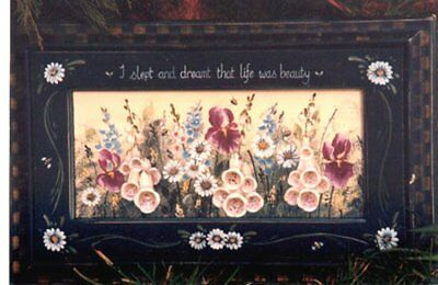 LEAFLETS - AUSTRALIAN COUNTRY FOLK ART presents COTTAGE GARDEN FRAME