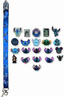 5 Lilo & Stitch Themed Disney Trading Pins Starter Set w/ Stitch Lanyard ~ NEW