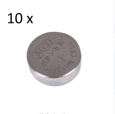 10 x  AG3 (SG3 / LR41 / 192 / 384 / 392) 1.5V Button Cell Alkaline Batteries