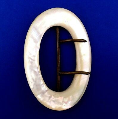 VIntage Large Mother of Pearl Belt Buckle