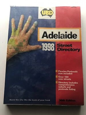 Adelaide UBD 1998 Street Directory excellent condition