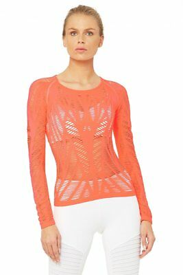 e20190d4830cb ALO Yoga Wanderer Long Sleeve Starbust Small S (4-6) NEW WITH TAGS