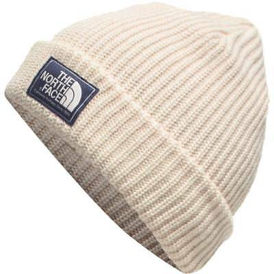 The North Face Beanie Salty Dog Hat Heritage Ribbed Unisex Hat Vintage White New