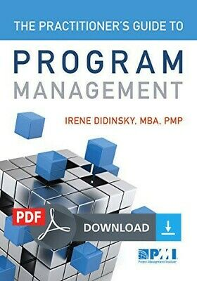 The Practitioner's Guide to Program Management PMI 🌟PDF🌟