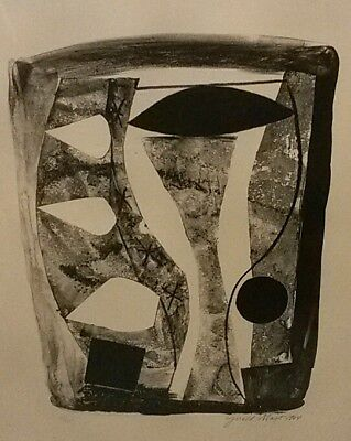 Mid Century MCM Signed, Numbered Lithograph-Gerald Mast, WPA Artist, c.1964-Rare