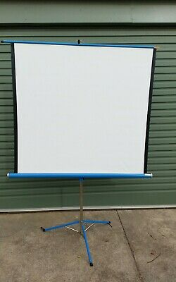 """Vintage Slide Projector Screen 48"""" width - Portable -Local Pick Up"""
