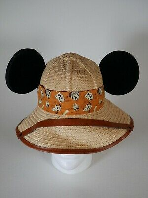 b0c97010b9e5c DISNEY PARKS SAFARI Hat MICKEY MOUSE EARS HTF Youth Adult New ...