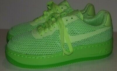 hot sale online 05ff6 27cdd NIKE AIR FORCE 1 Low Upstep BR Shoes Electric Green 833123 300 Women's SZ 6