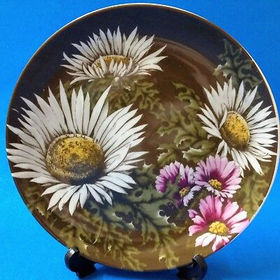 Swiss Wildflowers 20cm Porcelain Display Plate by Sevelen, Switzerland