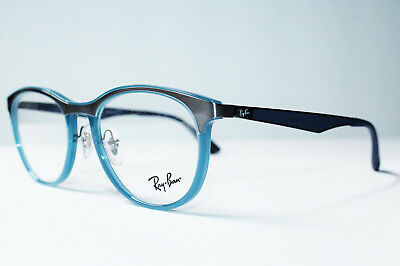 97c346a396 Brand New Ray Ban Rb 7116 8017 Blue Authentic Eyeglasses Rx 7116 51-19-
