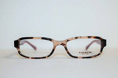 62d73737c572 New Coach Hc6083 5356 Peach Tortoise Crystal Authentic Eyeglasses Rx  52-17-135