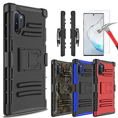 For Samsung Galaxy S10 Plus Case With Stand Holster Belt Clip + Screen Protector