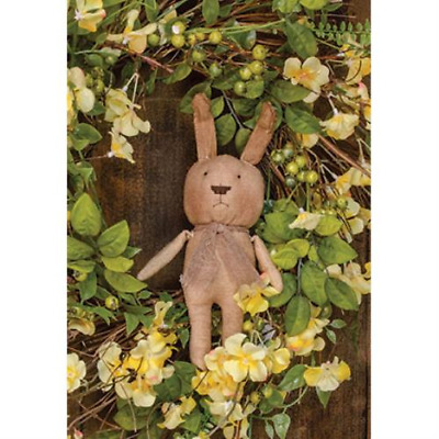 Primitive HERMAN BUNNY DOLL Country Farmhouse Fabric Cloth Rustic Summer Easter