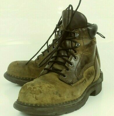 7fa9fce858b RED WING SHOES 2206 Men Boots US 8 D Brown Leather Work Safety Toe ANSI 6165
