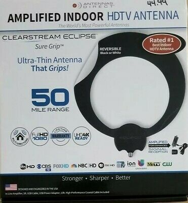 Antennas Direct - ClearStream Eclipse Amplified Indoor HDTV Antenna - Sealed