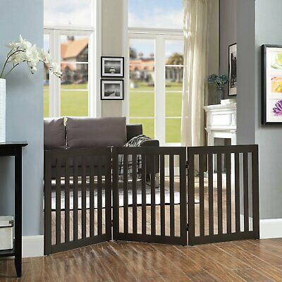 Safety Fence Freestanding 61cm Height Gate Child Pet Up to 152cm Wide Foldable