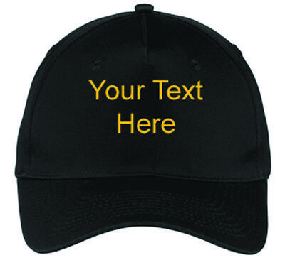 New Personalized Custom Embroidered Text for Cap Hat Free Shipping From Ohio
