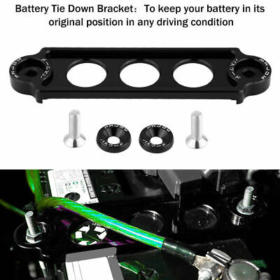 Car Racing Battery Tie Down Hold Bracket Lock Anodized For Honda CRX Civic 88-00