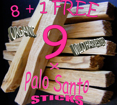 PALO SANTO HOLY WOOD🌕 Sacred CLEARING STICKS X 8 +  1 FREE  Stick ~ be quick !!