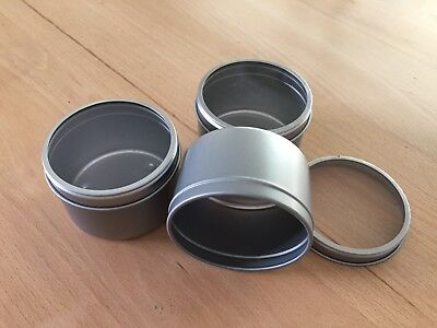 Silver Candle Tins With Window Lid   - 4 oz tins 120 grams