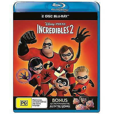 Incredibles 2 (Blu-ray, 2018, 2-Disc Set) BRAND NEW & SEALED