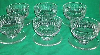 """Vtg Waterford Glass Crystal Ireland Maureen Footed Dessert Pudding Cup 3"""" Tasty!"""