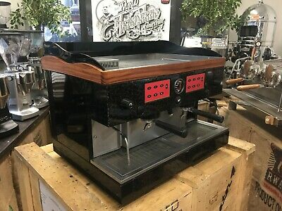 Astoria Leone Black 2 Group Espresso Coffee Machine Cafe Latte Home Barista Cafe