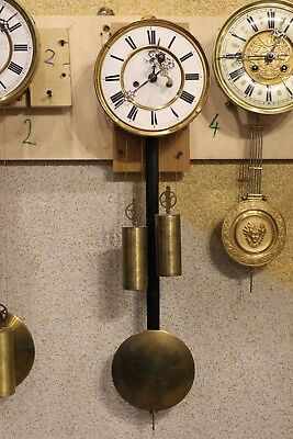 Complete Two weight Gustav Becker  wall clock movement at 1878