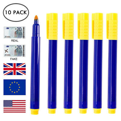 20pc Counterfeit Fake Forged Money Bank Note Checker Detector Tester Marker Pens